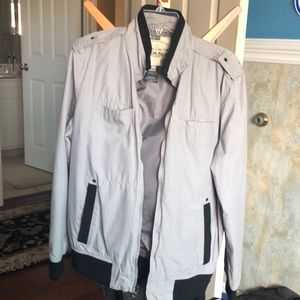 Gray lightweight jacket